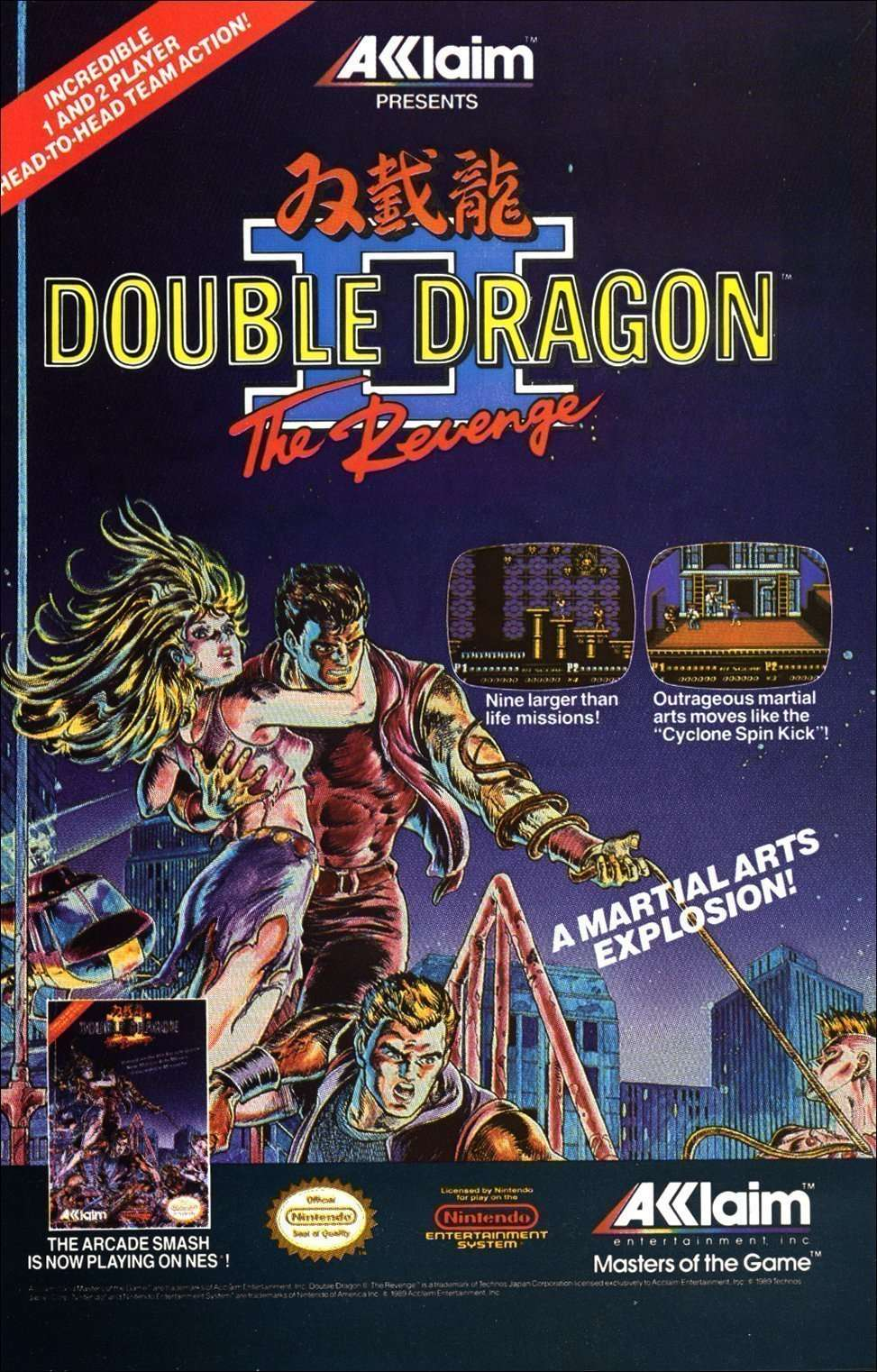 Review Double Dragon Ii The Revenge The Old Game Hermit